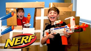 Download Nerf War Box Fort - Kids Battle Royale Action Movie | Gorgeous Movies Video
