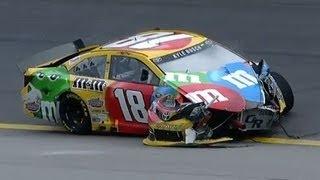Download NASCAR Kyle Busch crashes at Kansas   Kansas Speedway (2013) Video