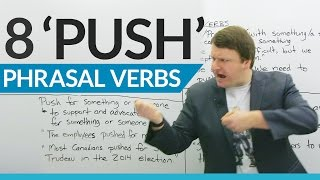 Download Learn 8 Phrasal Verbs with ″PUSH″ Video