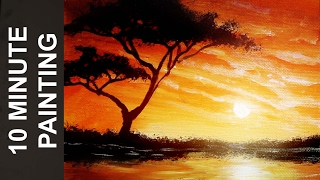 Download Painting an African Landscape with Acrylics in 10 Minutes! Video