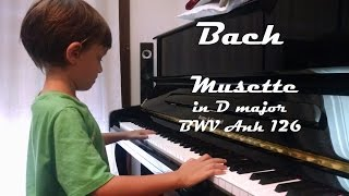 Download Bach | Musette in D major, BWV Anh 126, Piano (7 y.o.) Video