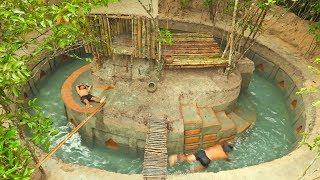 Download Refreshing On Beautiful Jungle Termite Pool & Slide Around Termite's House Video