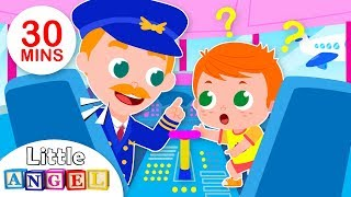 Download Baby Goes on an Airplane | Baby at the Airport, Flight | Kids Songs & Nursery Rhymes by Little Angel Video