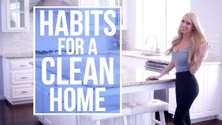 Download Habits for Keeping a Clean House! My Daily Cleaning Routine Video