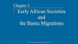 Download AP World History - Ch. 3 & 4 - African Societies & the Bantu Migrations & Early Societies in S. Asia Video