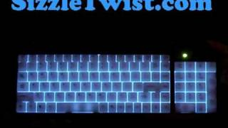 Download SizzleTwist - Illuminated Keyboard Review Luminescent Backlit Lighted Video