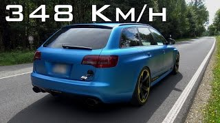 Download Audi RS6 R - 0-348 Km/h Sound, Acceleration, Onboard Autobahn, Topspeed Video
