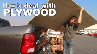 Download How to break down plywood. A guide to cutting, moving and hauling plywood by yourself. Video