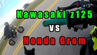 Download Honda Grom VS Kawasaki Z125 | Drag Race! Video