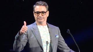 Download Robert Downey Jr. Accepts Disney Legends Award at Disney D23 Expo in Anaheim 2019 Video