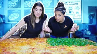 Download Eating The Worlds Largest Pizza CHALLENGE! feat. iiSuperWomanii Video