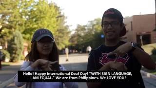 Download Happy International Deaf Day from RIT & NTID Video