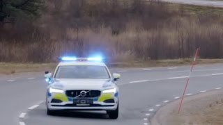 Download Volvo V90 Police will be used by Sweden's Police (trust me it will be well used...) Video
