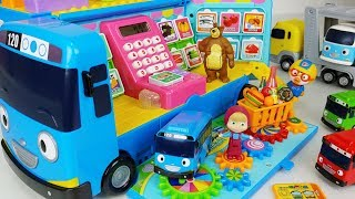 Download Tayo Bus mart and food toys Baby doll car play - 토이몽 Video