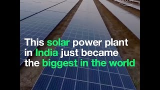 Download This solar power plant in India just became the biggest in the world Video
