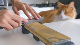 Download Sharpening a $1 knife Video