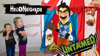 Download Hello Neighbor in Real Life!!! UNTAMED Fingerlings Dinosaurs Scavenger Hunt! Video