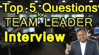 Download Top 5 Questions for Team Leader Job Interview | Career Guidance in English Video