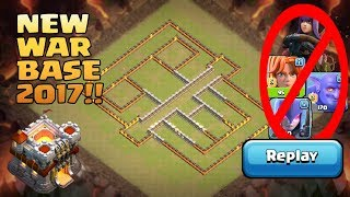 Download New Th11 War Base 2017 | Anti 0 Star/Anti 1 Star Anti Bowler Walk Witch Anti Queen Walk Bowler Valk Video