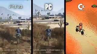 Download GTA V: PS4 / PC / C64 Comparison Video