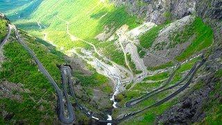 Download Trollstigen Norway famous serpetine mountain road, Der Trollstigen in Norwegen Video