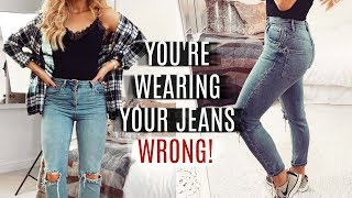 Download YOU'RE WEARING YOUR JEANS WRONG! FASHION HACKS 2019 Video