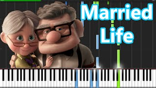 Download Married Life - Up [Piano Tutorial] (Synthesia) // PianoMavs Video