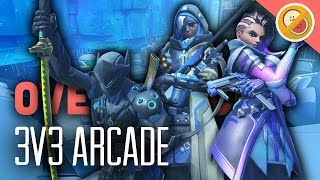 Download 3v3 ELIMINATION! NEW ARCADE MAP! - Overwatch Gameplay (Funny Moments) Video