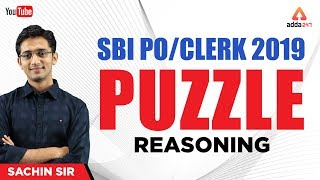 Download SBI PO/CLERK 2019 | Puzzle | SBI PO Exam 2019 Syllabus Reasoning | Sachin Sir Video