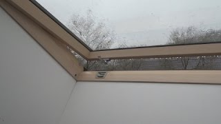 Download ☔️ Rain On Roof Window Sounds For Sleeping, Relaxing ~ Glass Skylight Water Drops Downpour Ambience Video