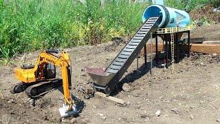 Download RC ADVENTURES - GOLD Mine Trommel & 4200XL Excavator, Radio Controlled Video