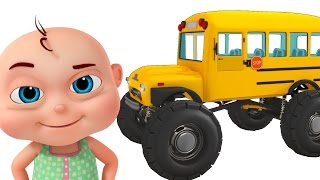 Download Monster School Bus Assembly | Construction Vehicles For Kids | Videos For Toddlers Video