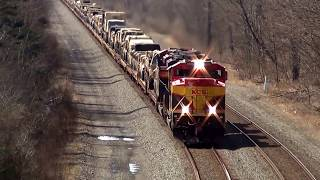 Download Big US Military Train Overhead View Video