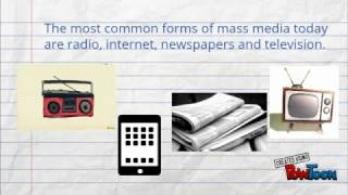 Download Advantages and Disadvantages of Mass Media Video