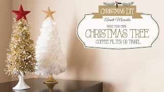 Download DIY Christmas Tree ( Coffee Filter - Tinsel) Arbol Navideño Video