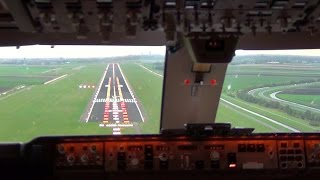 Download Cockpit view - Boeing 747-400F Landing Amsterdam Schiphol Video