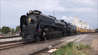 Download Union Pacific 844 Pulls a Freight Train Out of Denver, CO Video