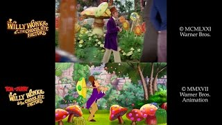 Download Tom & Jerry: Willy Wonka (2017)/Willy Wonka and the Chocolate Factory (1971) Side-by-Side Video