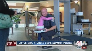 Download Little girl thanks Lee's Summit Police for saving birthday Video