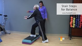 Download Stair Step Exercise for Older Adults to Improve Balance Video