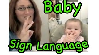 Download cute signing baby!...baby sign language Video