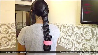 Download How to: Folded Braid For Extra Long Hair | Folded Braid for Rainy & Summer | Folded Braid Hairstyle Video