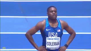 Download CHRISTIAN COLEMAN WINS Men's 60m FINAL IAAF World Indoor Championships Birmingham 2018 Video