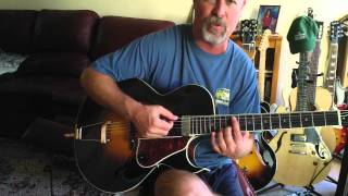 Download BEST ARCHTOP VALUE $749 list $999 LH-350 SOLID CARVED TOP Video