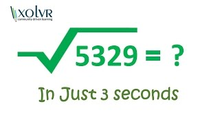 Download Square root of any perfect square number in 3 seconds. Video