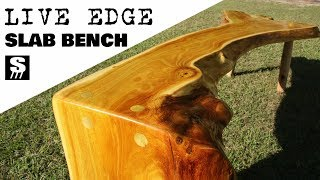 Download Live Edge Slab Bench - Wood Furniture Video