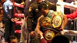 Download Manny Pacquiao leaves the ring after the Cotto fight Video