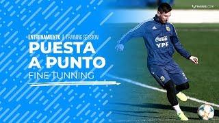 Download Messi continúa la preparación con la Argentina Video
