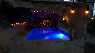 Download Building a concrete hot tub grotto Video