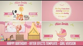 Download Birthday After Effects Template - Girl Version Video